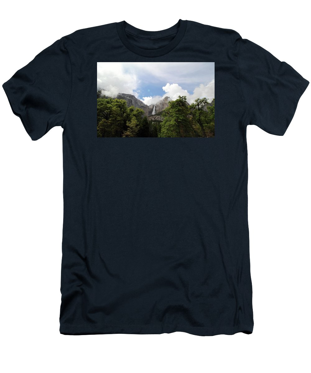 Upper Falls Men's T-Shirt (Athletic Fit) featuring the photograph Upper Falls by Robin Weir