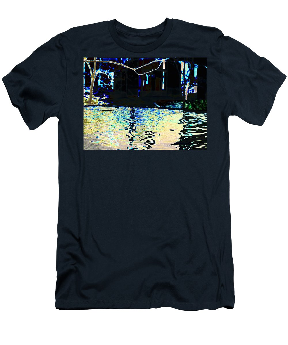 Seattle Men's T-Shirt (Athletic Fit) featuring the photograph Urban Waterfall by Tim Allen