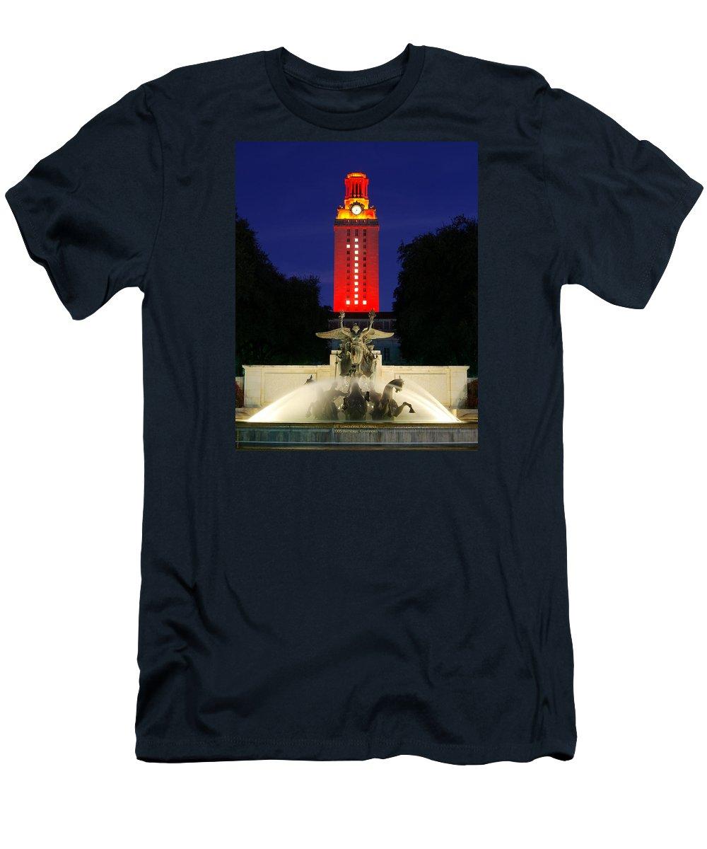 b49501bd8c82a2 Ut Austin Men's T-Shirt (Athletic Fit) featuring the photograph Ut Austin  Tower