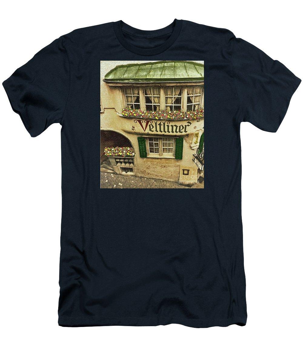 Veltliner Men's T-Shirt (Athletic Fit) featuring the photograph Veltliner Keller by Jost Houk
