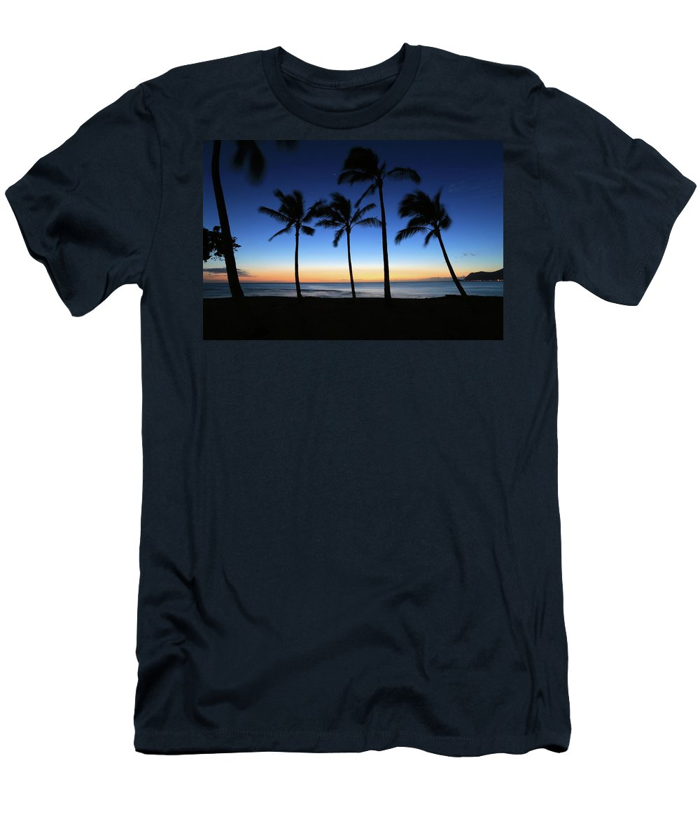 Photosbymch Men's T-Shirt (Athletic Fit) featuring the photograph Venus At Sunset by M C Hood