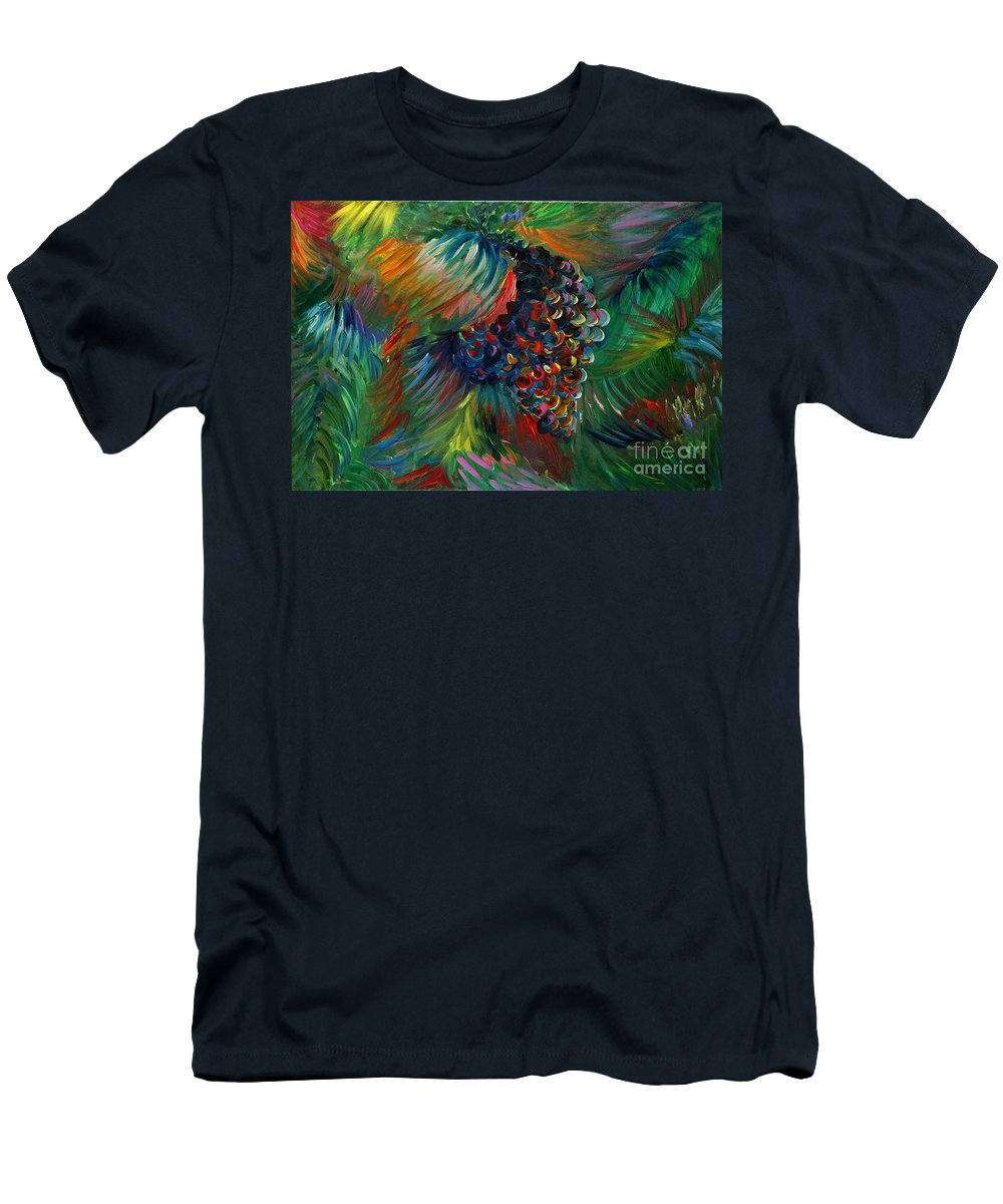 Grapes Men's T-Shirt (Athletic Fit) featuring the painting Vibrant Grapes by Nadine Rippelmeyer