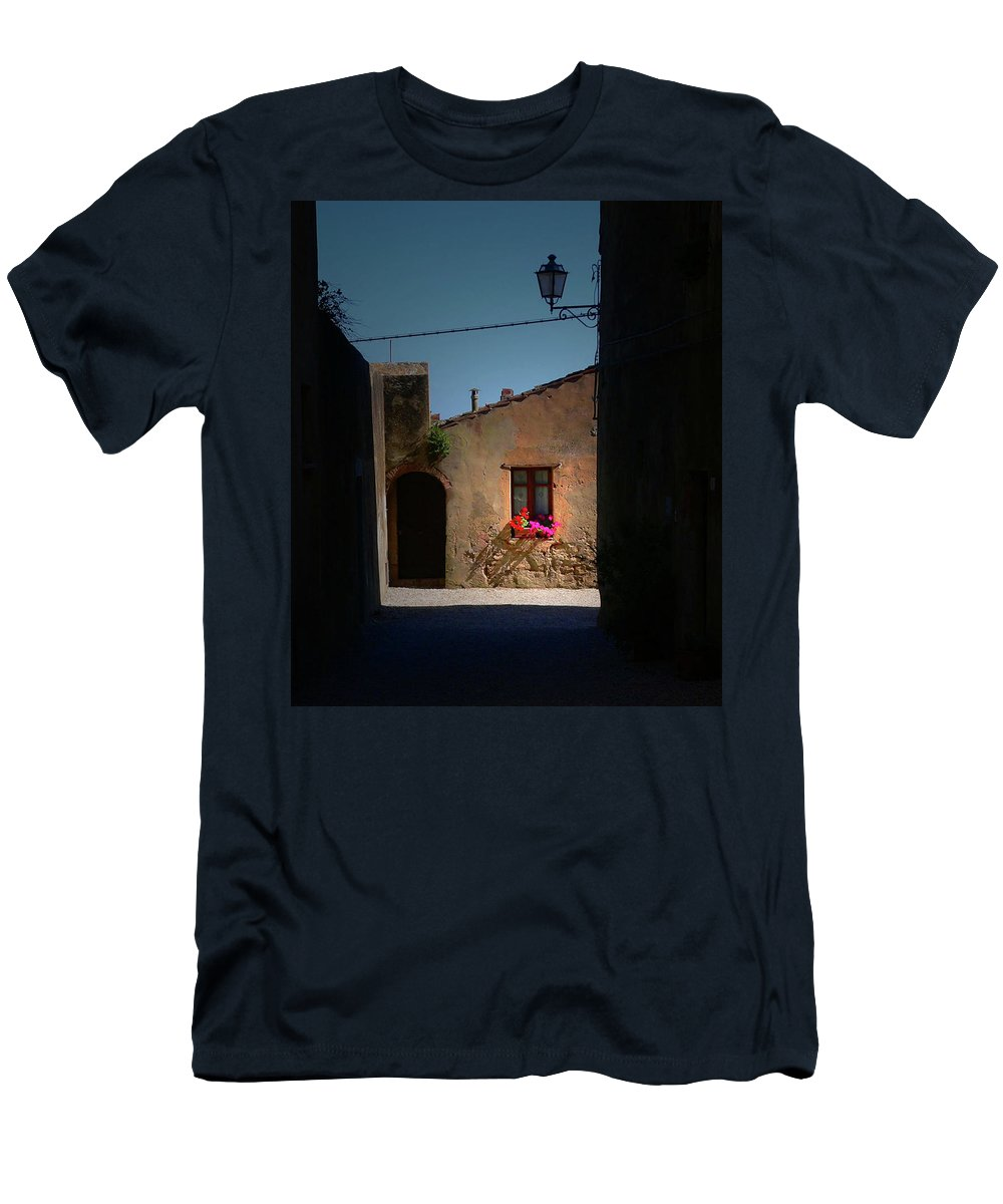 Window Men's T-Shirt (Athletic Fit) featuring the photograph View Wiith A Window by Angela Wright