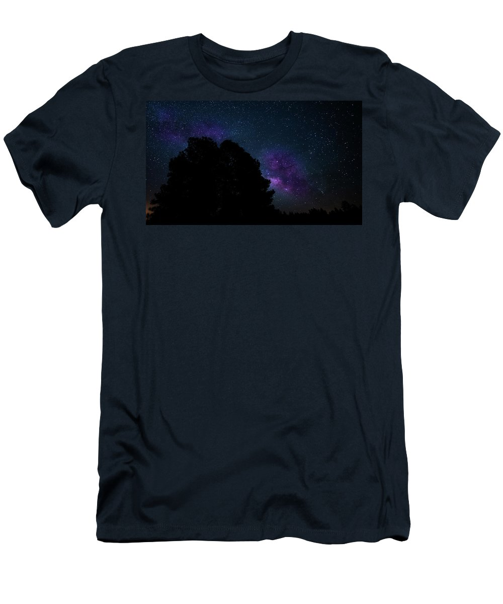 Stars Men's T-Shirt (Athletic Fit) featuring the photograph Violet Milk by Vincent Asbjornsen