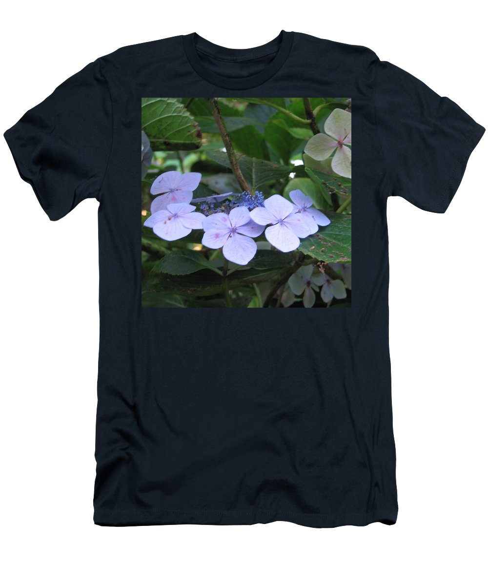 Violets Men's T-Shirt (Athletic Fit) featuring the photograph Violets O The Green by Kelly Mezzapelle