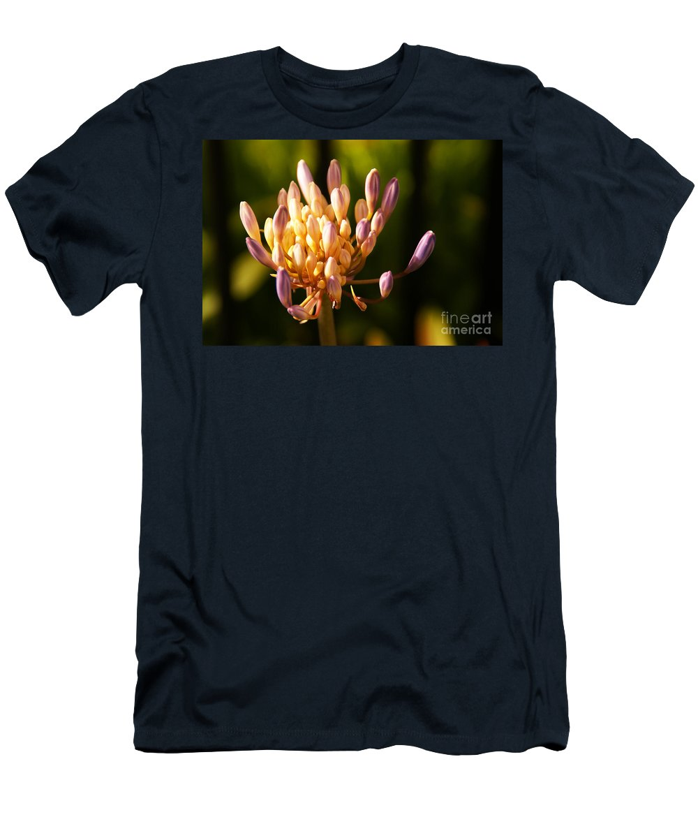 Flower Men's T-Shirt (Athletic Fit) featuring the photograph Waiting To Blossom Into Beauty by Linda Shafer