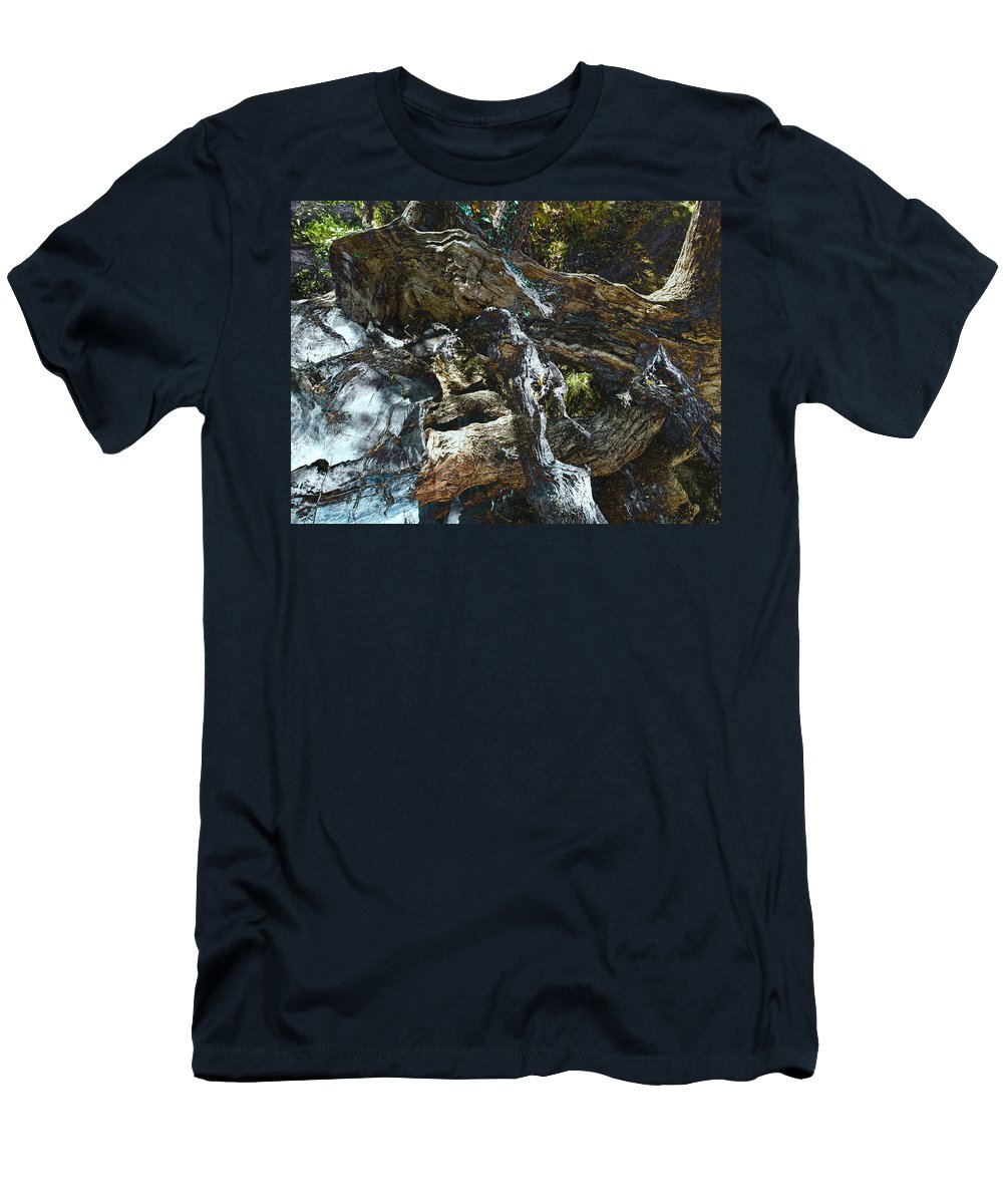 Trees Men's T-Shirt (Athletic Fit) featuring the photograph Washed Away by Kelly Jade King