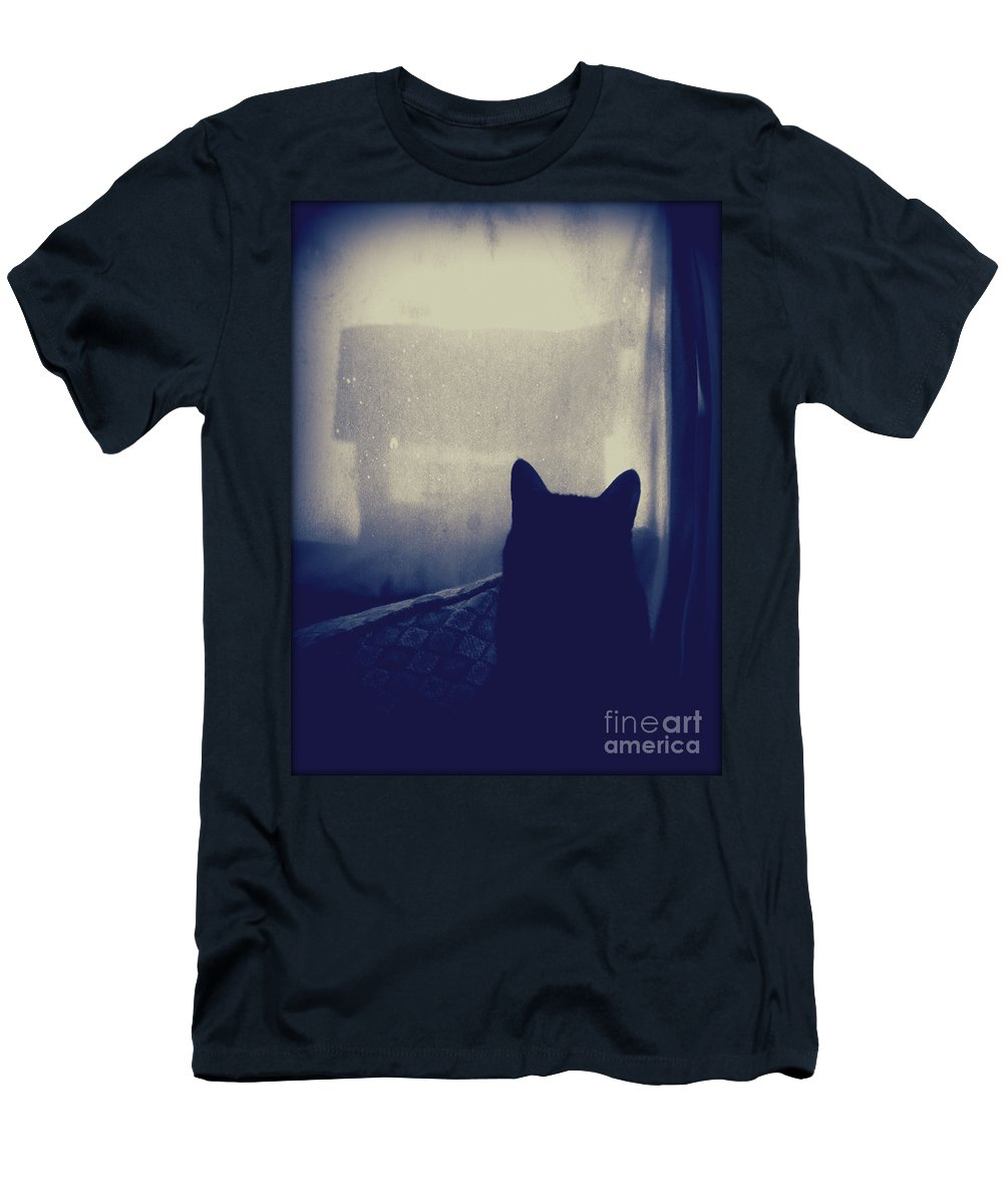 Men's T-Shirt (Athletic Fit) featuring the photograph Watching The Feeder by Krista Carofano