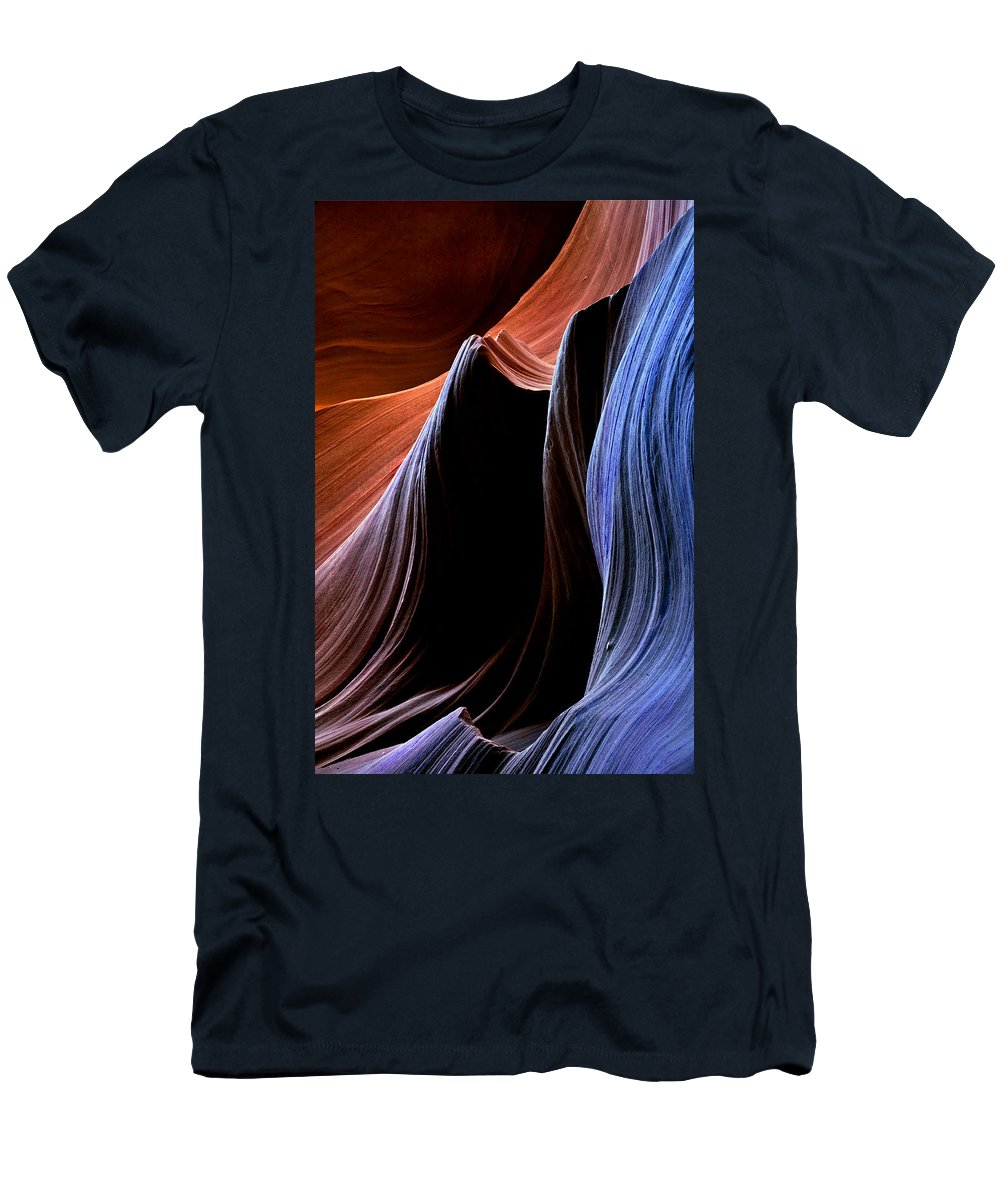 Sandstone Men's T-Shirt (Athletic Fit) featuring the photograph Waves by Mike Dawson