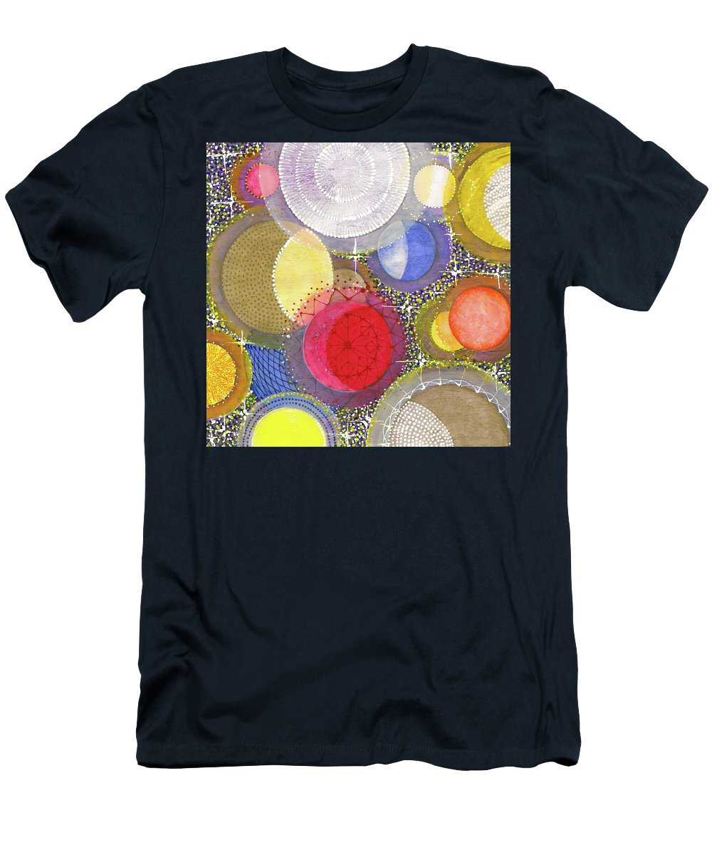 Moon Men's T-Shirt (Athletic Fit) featuring the painting We Will Have Many Moons #2 by Kym Nicolas