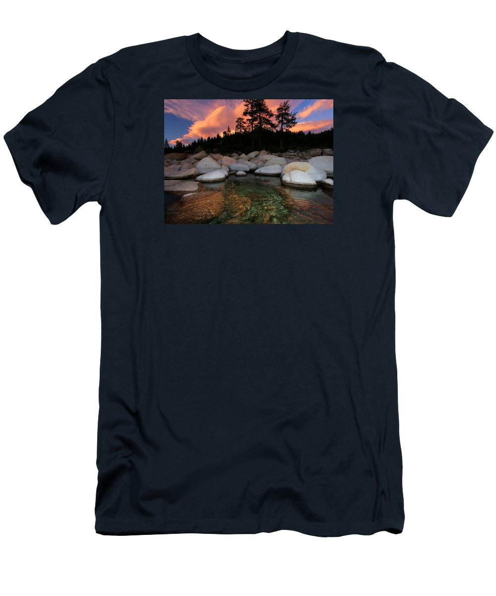 Lake Tahoe Men's T-Shirt (Athletic Fit) featuring the photograph Welcoming Waters by Sean Sarsfield
