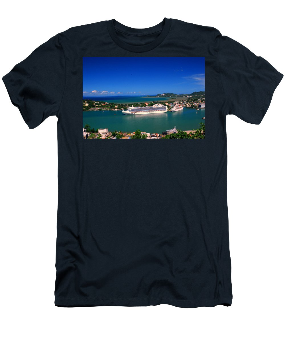 St. Lucia Men's T-Shirt (Athletic Fit) featuring the photograph Where Are My People by Gary Wonning