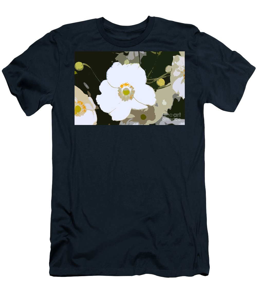 Flower Men's T-Shirt (Athletic Fit) featuring the photograph White Beauty Work Number 6 by David Lee Thompson