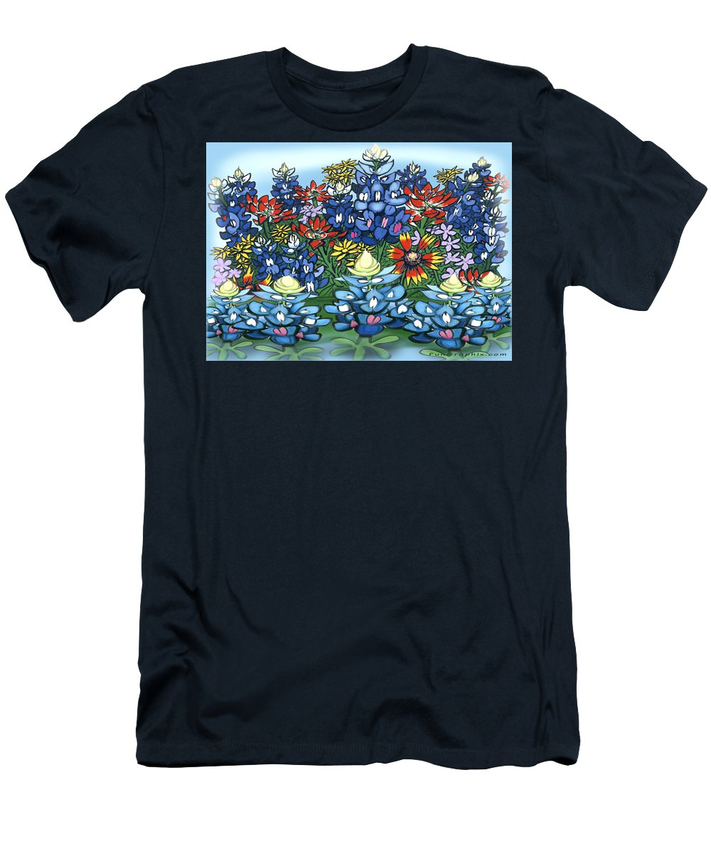 Wildflowers Men's T-Shirt (Athletic Fit) featuring the digital art Wildflowers by Kevin Middleton