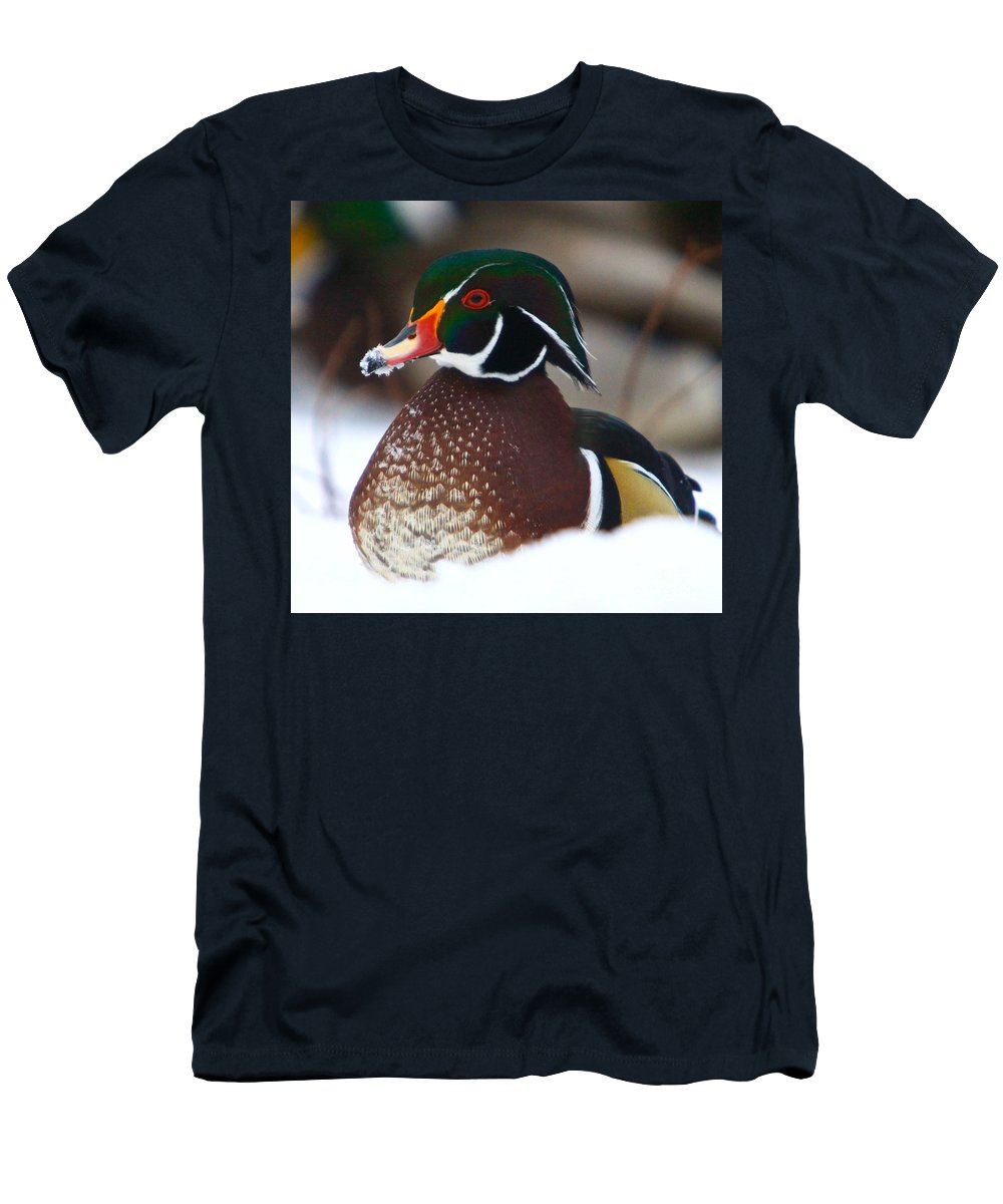 Wood Duckducks Men's T-Shirt (Athletic Fit) featuring the photograph Wood Duck by Robert Pearson