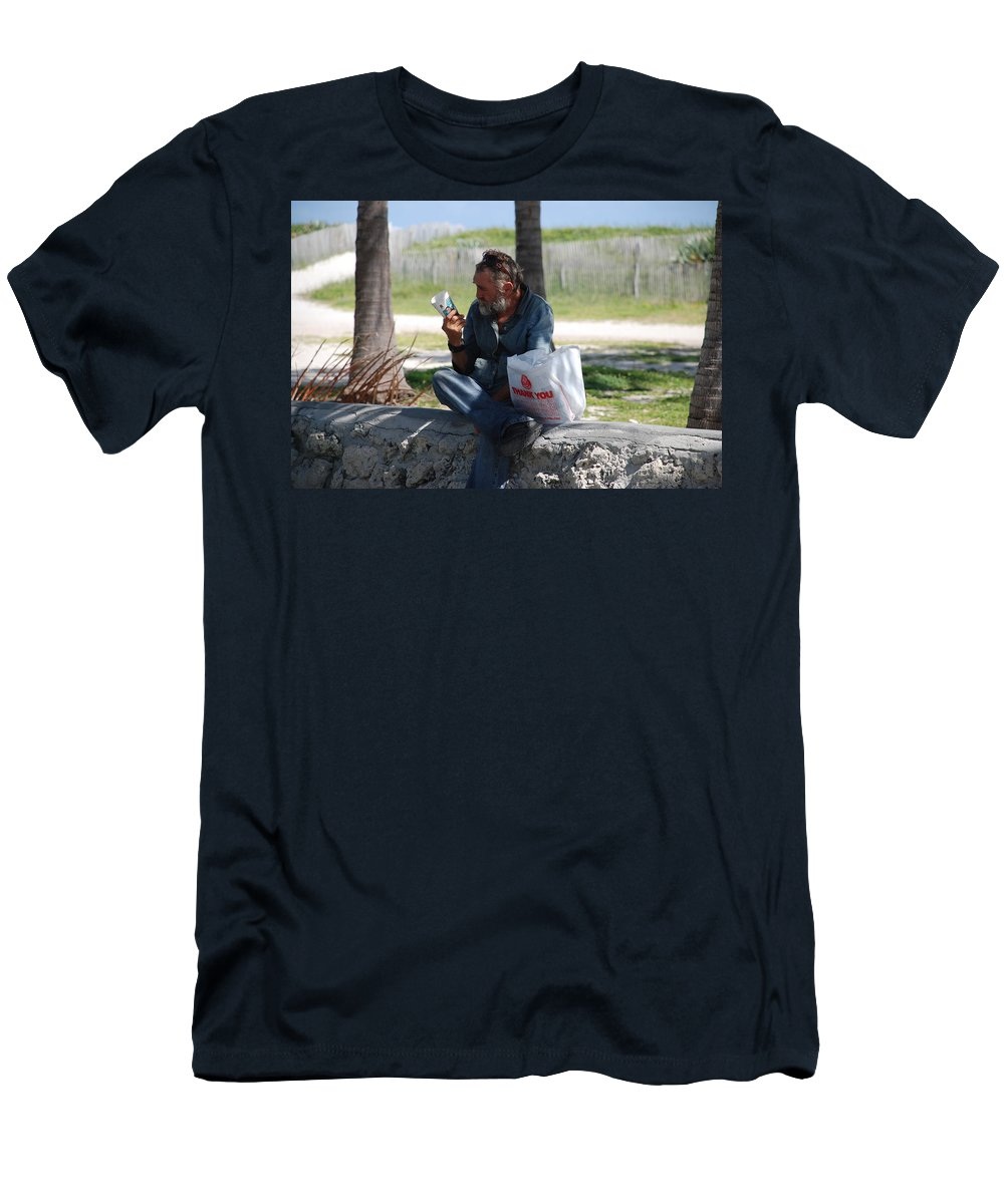 Man Men's T-Shirt (Athletic Fit) featuring the photograph Worldly Posessions by Rob Hans