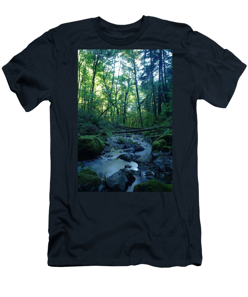 Water Men's T-Shirt (Athletic Fit) featuring the photograph Wyeth Creek by Jeff Swan