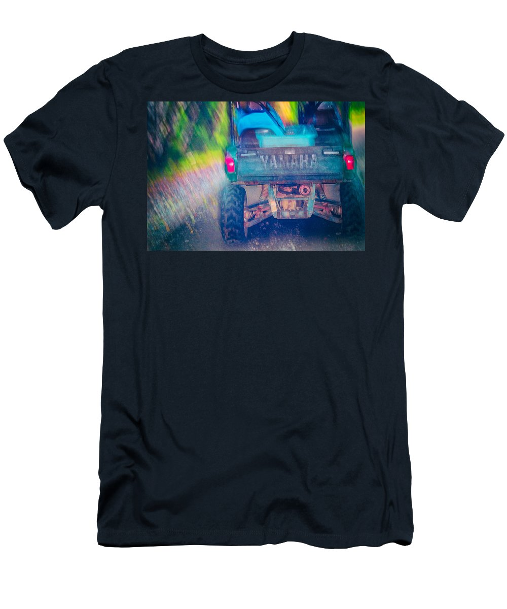 Alaska Men's T-Shirt (Athletic Fit) featuring the photograph Yamaha by Laura Macky