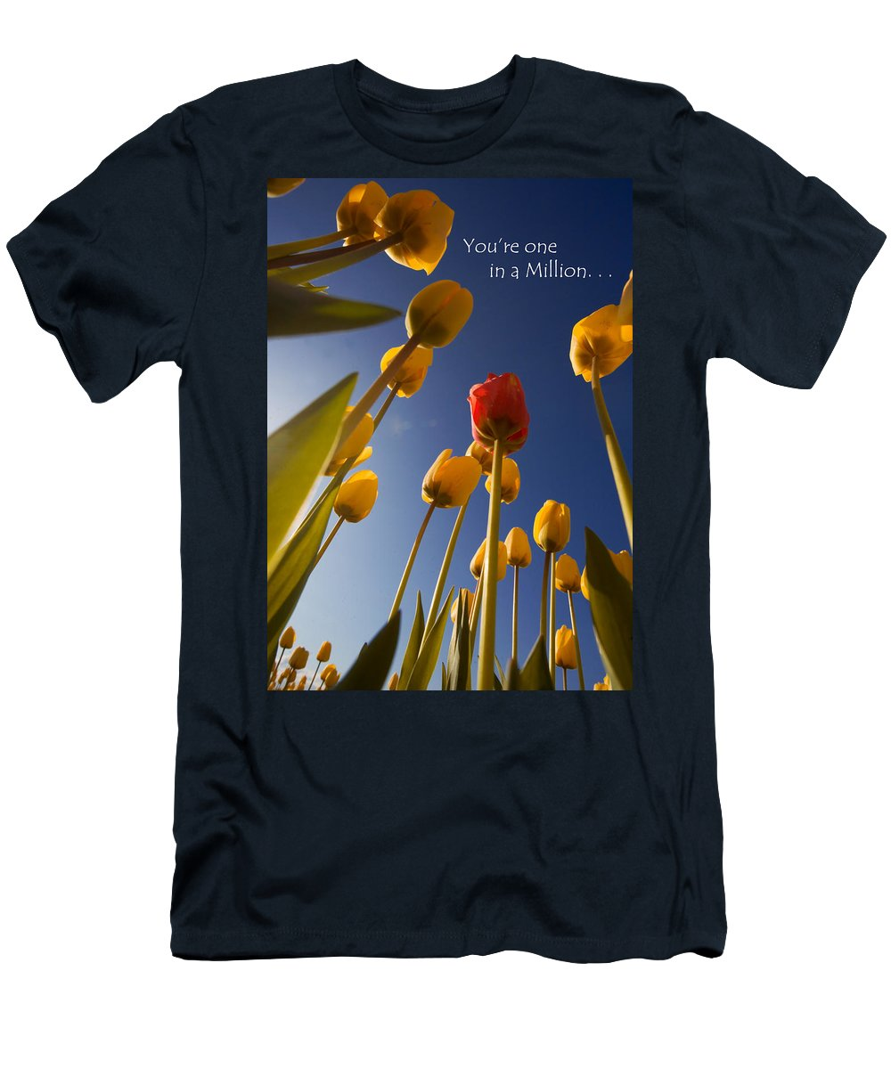Flower Men's T-Shirt (Athletic Fit) featuring the photograph You Are One In A Million by Karen Ulvestad