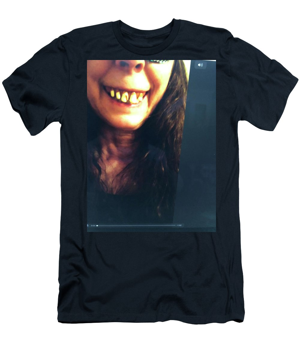Monster Men's T-Shirt (Athletic Fit) featuring the photograph Halloween Witch by Laureen Sabella
