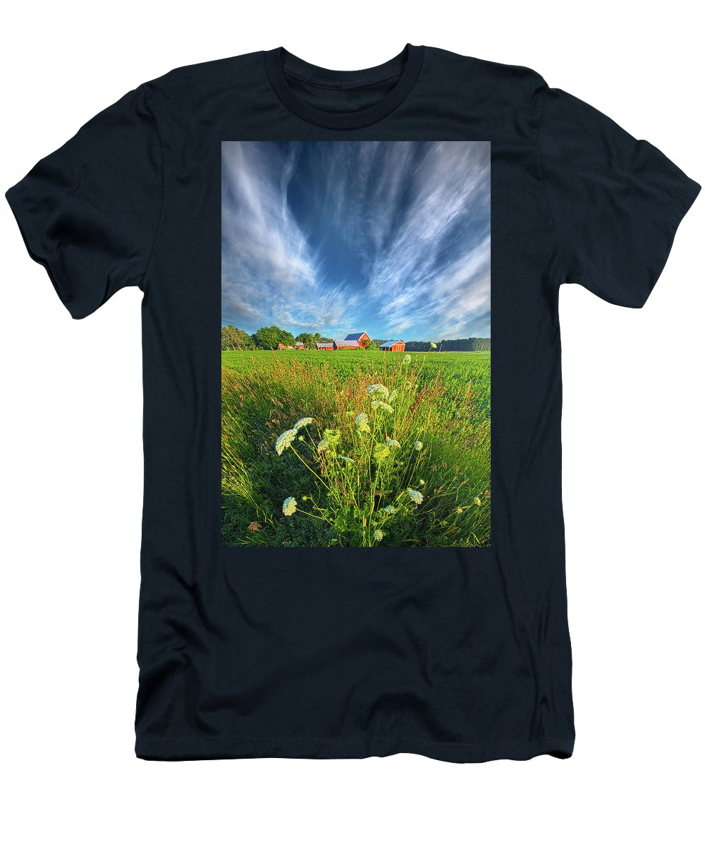 Life Men's T-Shirt (Athletic Fit) featuring the photograph Summer Dreams Drifting Away by Phil Koch