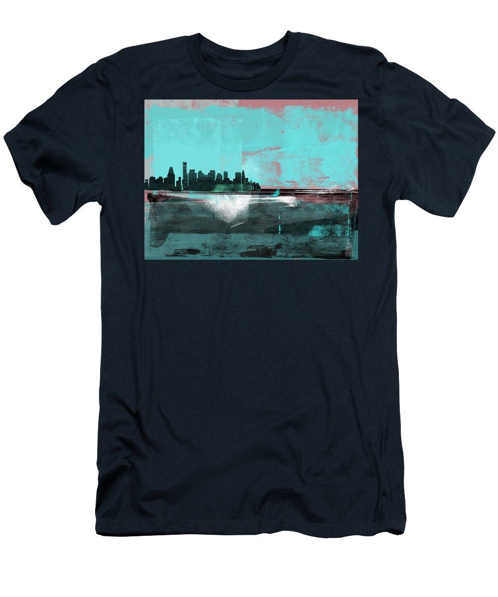 Boston Skyline Mixed Media T-Shirts