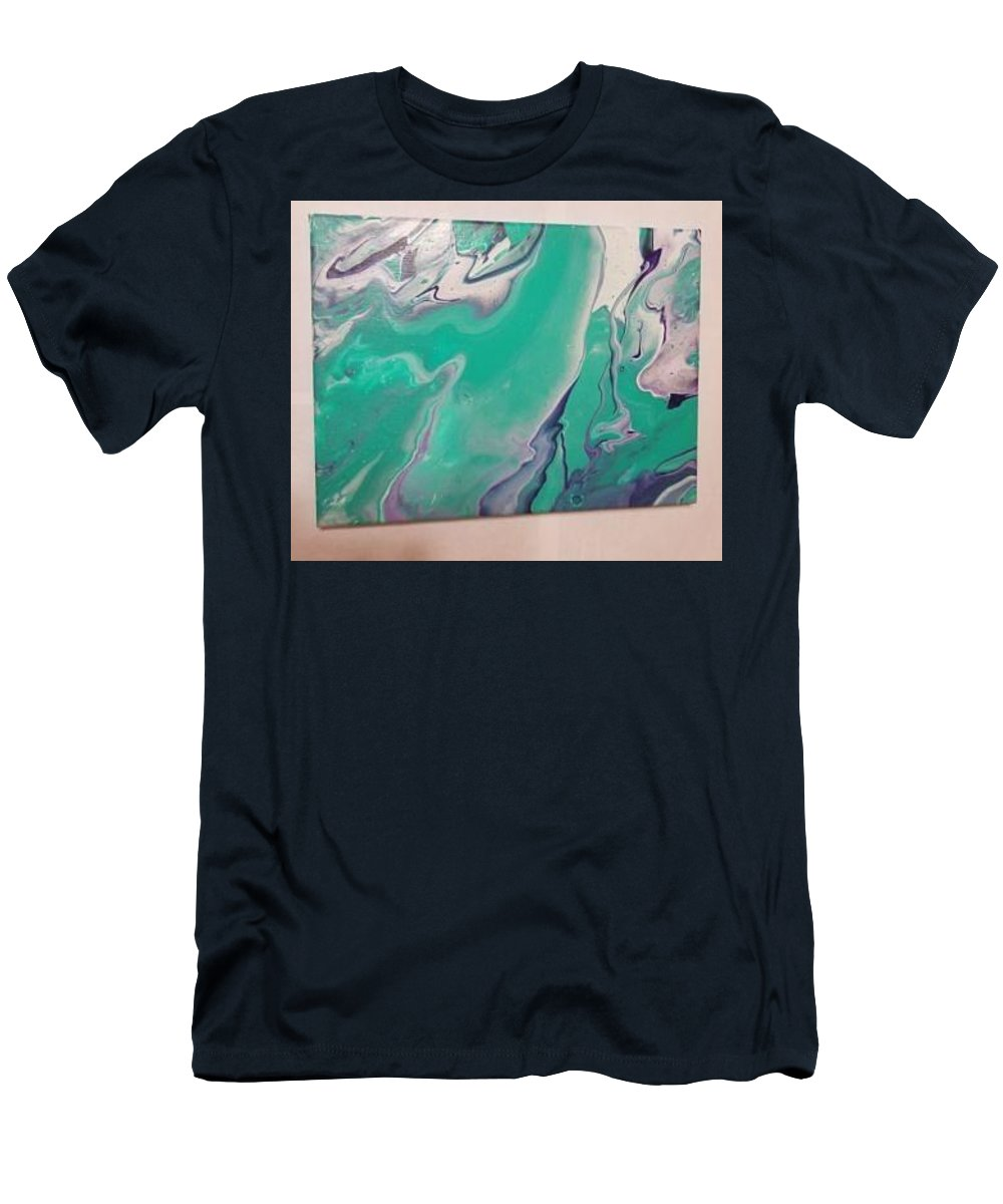 Abstract Men's T-Shirt (Athletic Fit) featuring the painting Cool Tone Vibes by Morgan Smith
