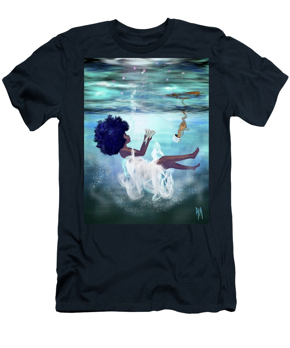 Bible T-Shirt featuring the painting I aint drowning by Artist RiA