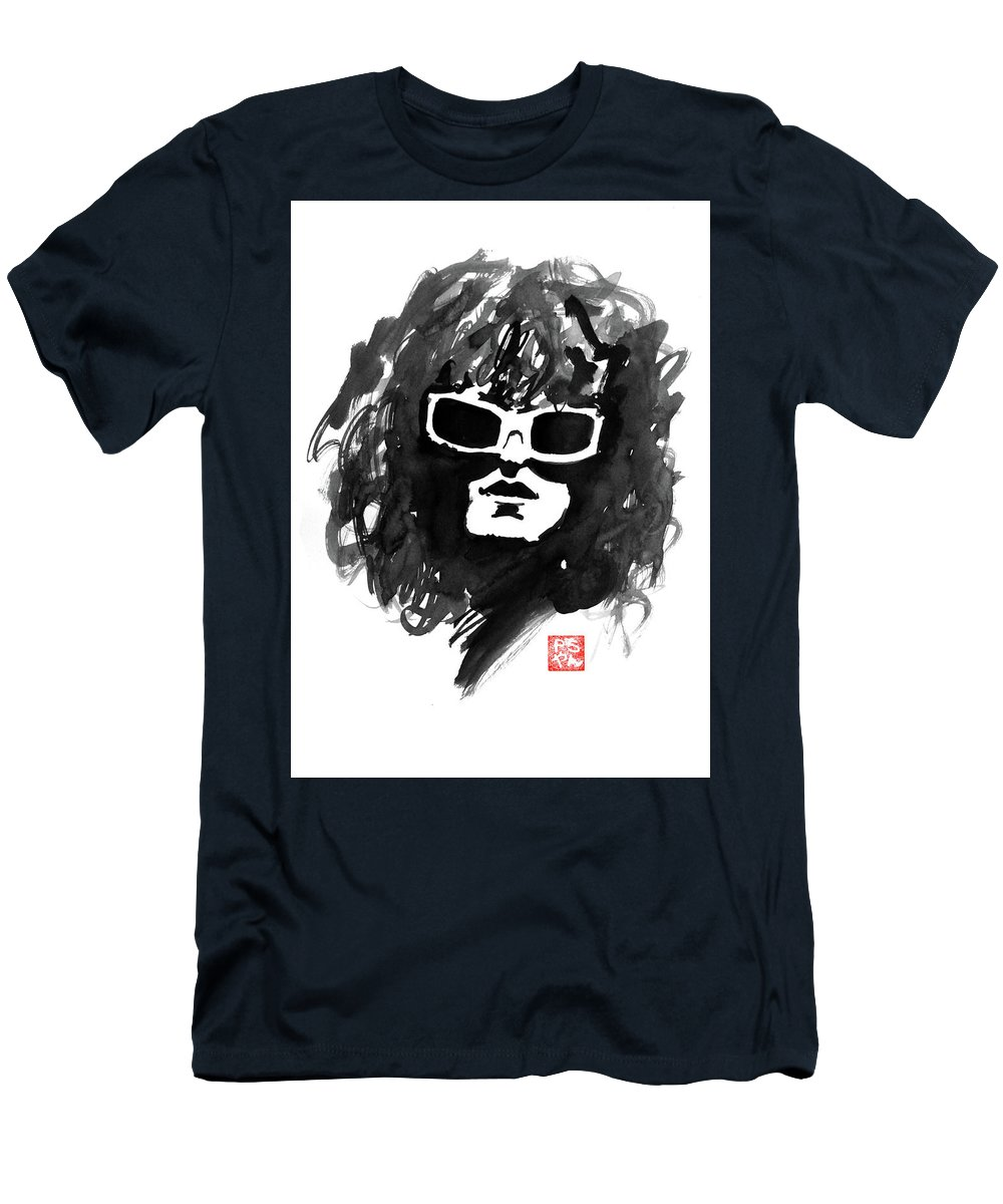 Michel Polnareff Men's T-Shirt (Athletic Fit) featuring the painting Michel Polnareff by Pechane Sumie