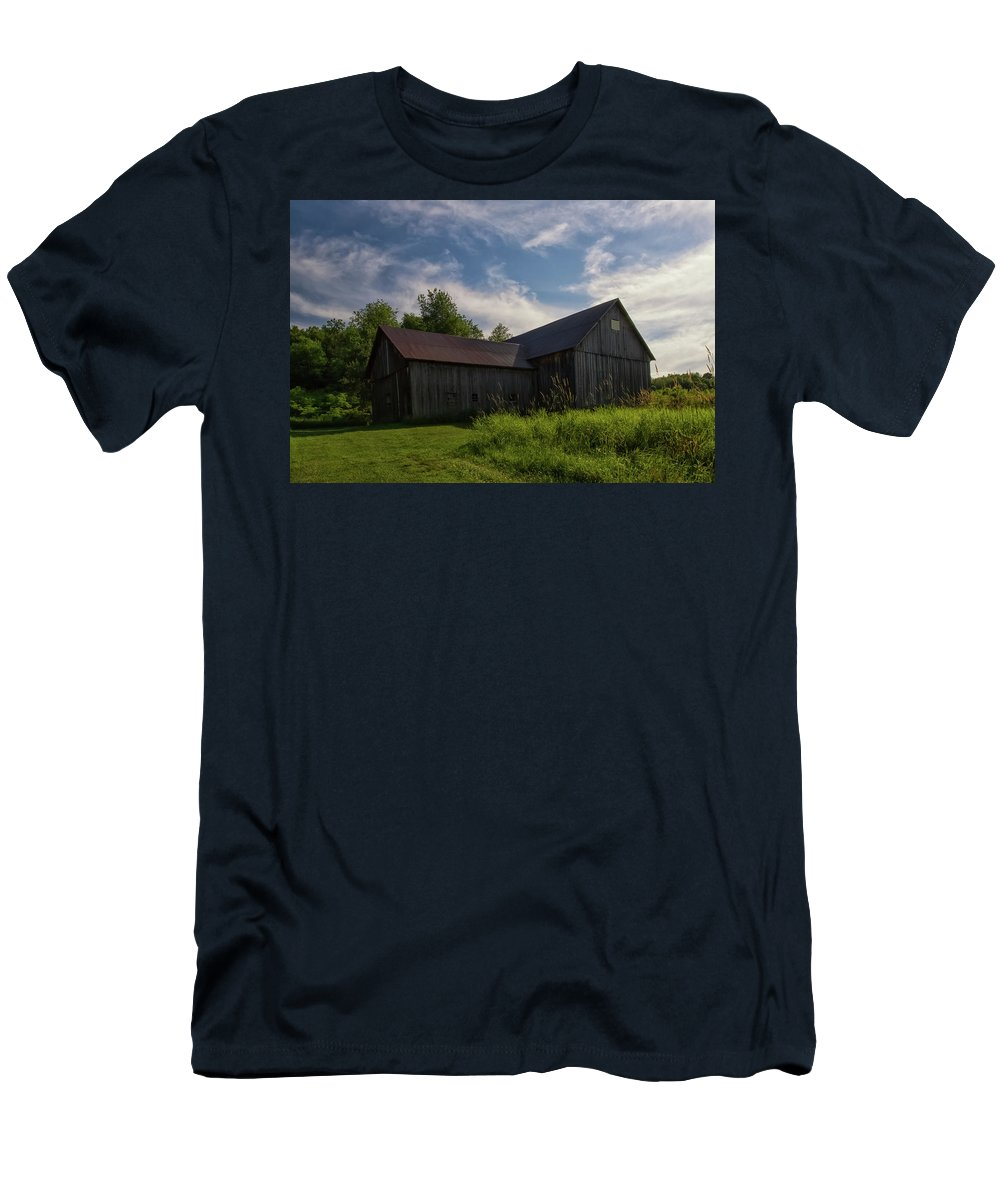 Port Men's T-Shirt (Athletic Fit) featuring the photograph Miller Barn 5 by Heather Kenward