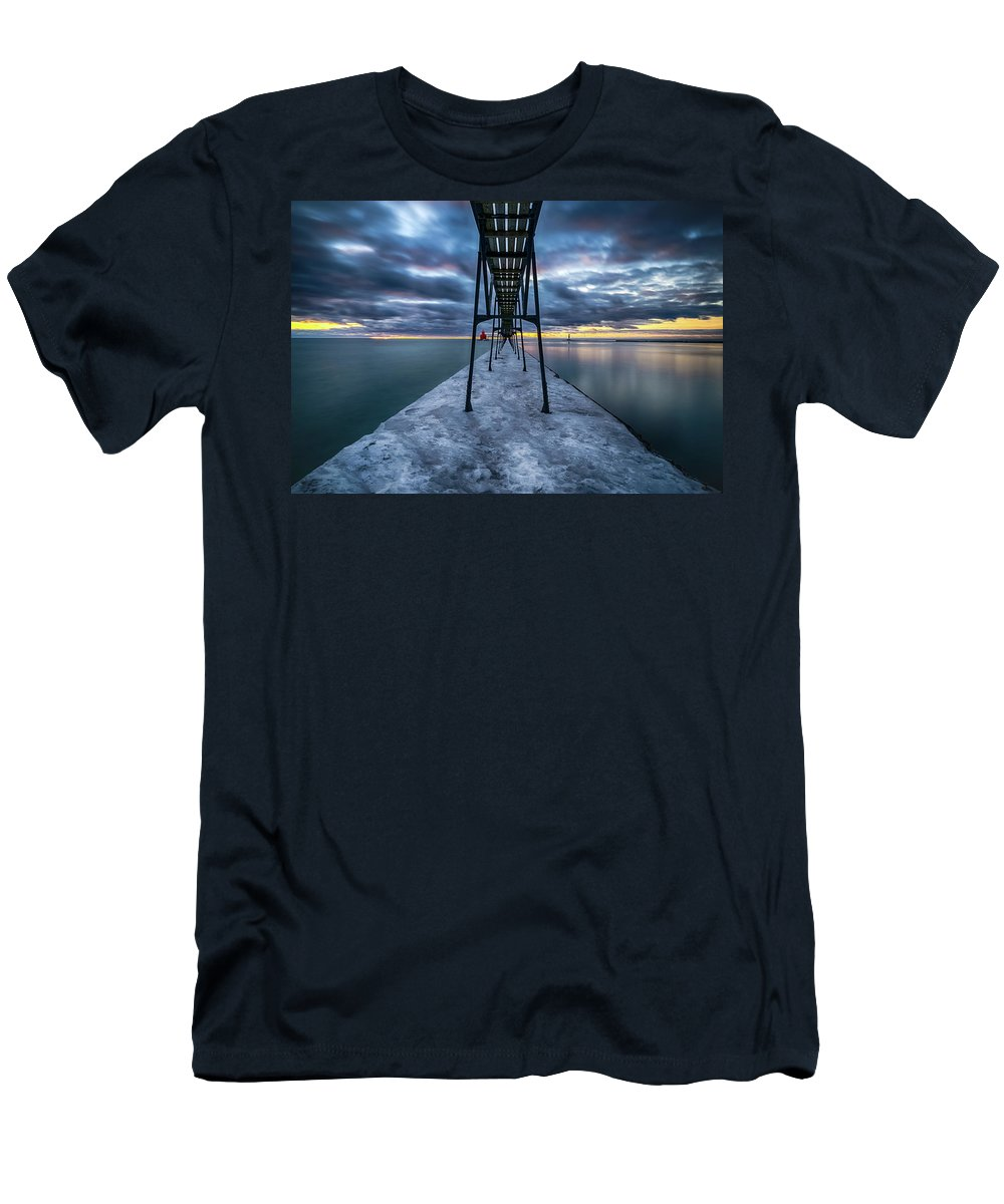 Lighthouse Men's T-Shirt (Athletic Fit) featuring the photograph Morning Light by Brad Bellisle
