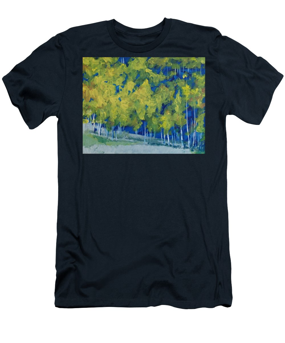 Forest T-Shirt featuring the painting Park City Forest by Philip Fleischer