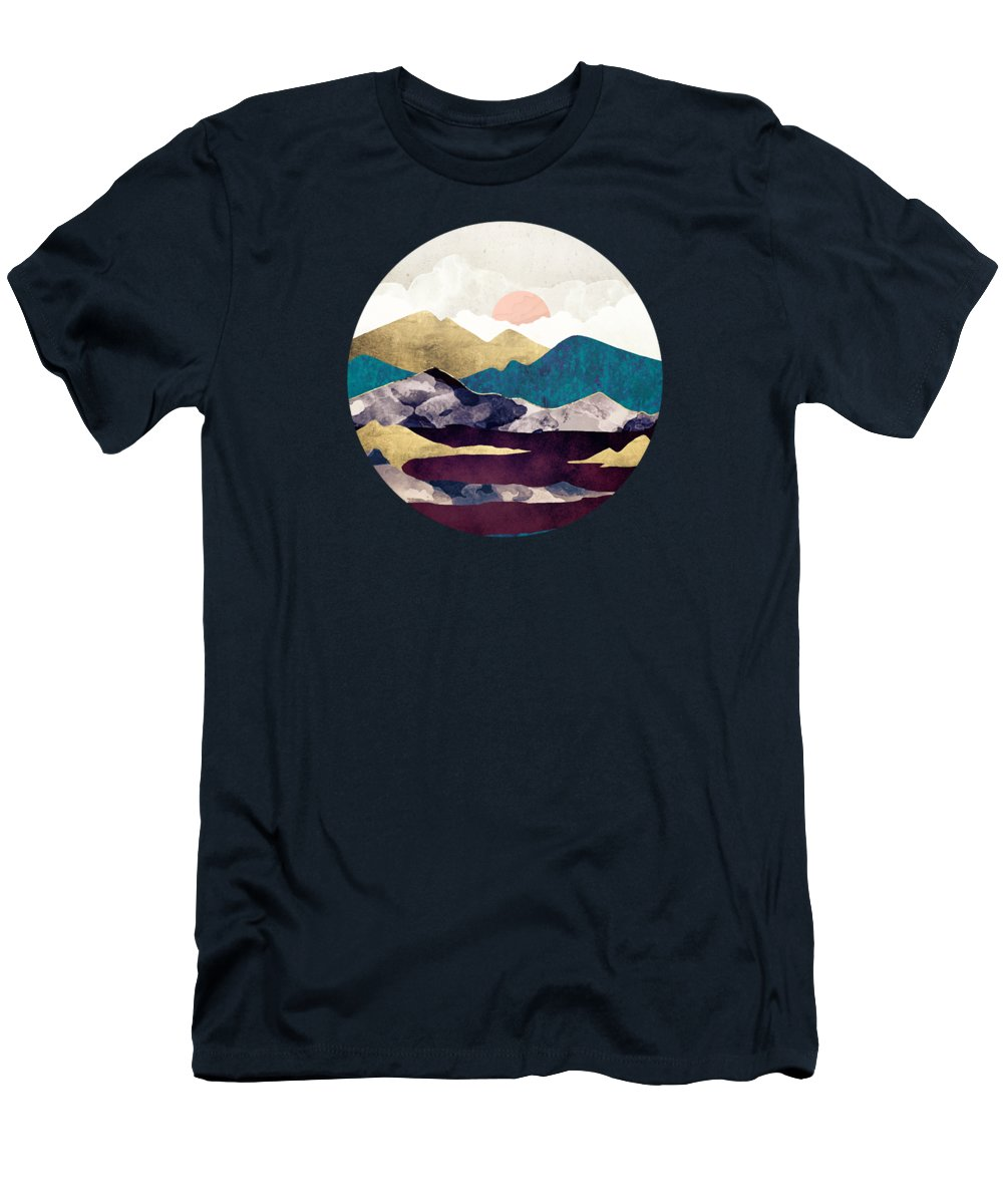 Wine Men's T-Shirt (Athletic Fit) featuring the digital art Wine Lake by Spacefrog Designs