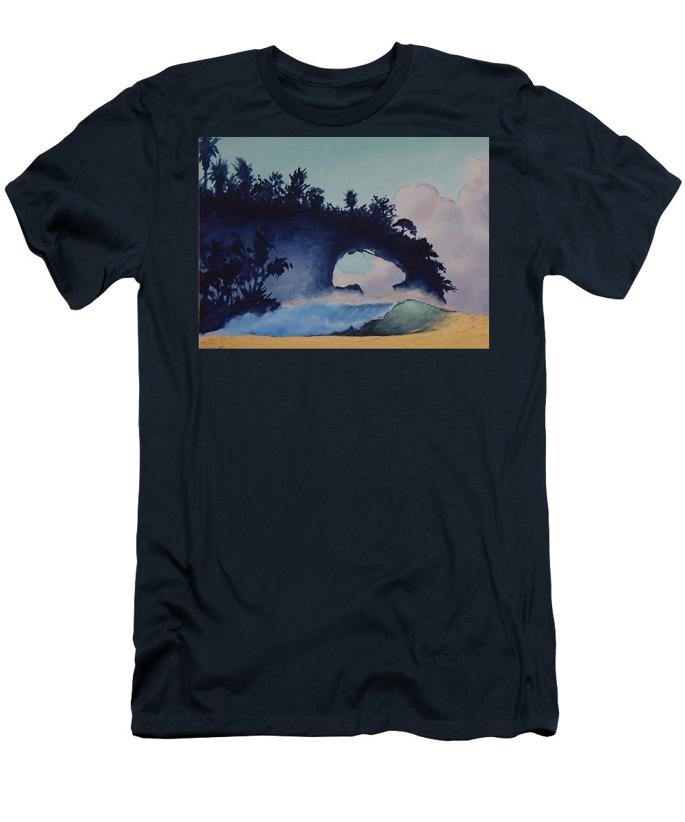 Ocean T-Shirt featuring the painting Untitled 4 by Philip Fleischer