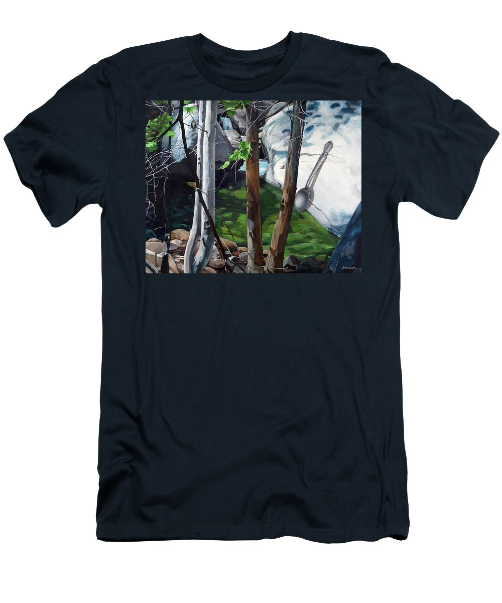 Landscape T-Shirt featuring the painting A Taste of Nature by Snake Jagger
