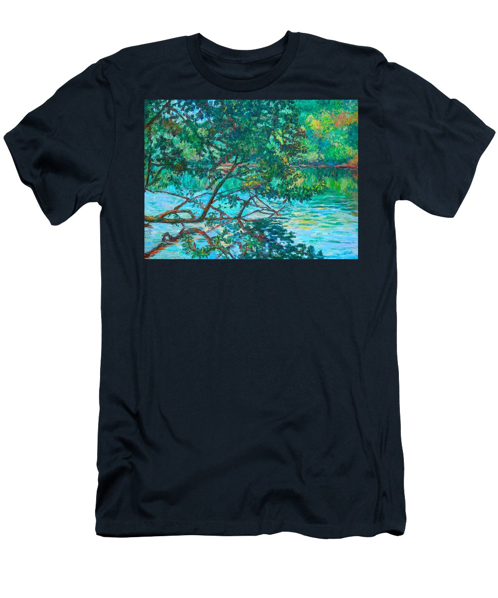Landscape T-Shirt featuring the painting Bisset Park by Kendall Kessler