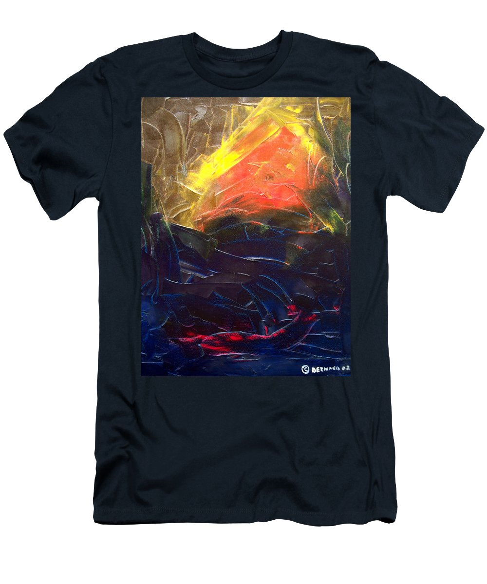 Duck T-Shirt featuring the painting Forest .Part1 by Sergey Bezhinets