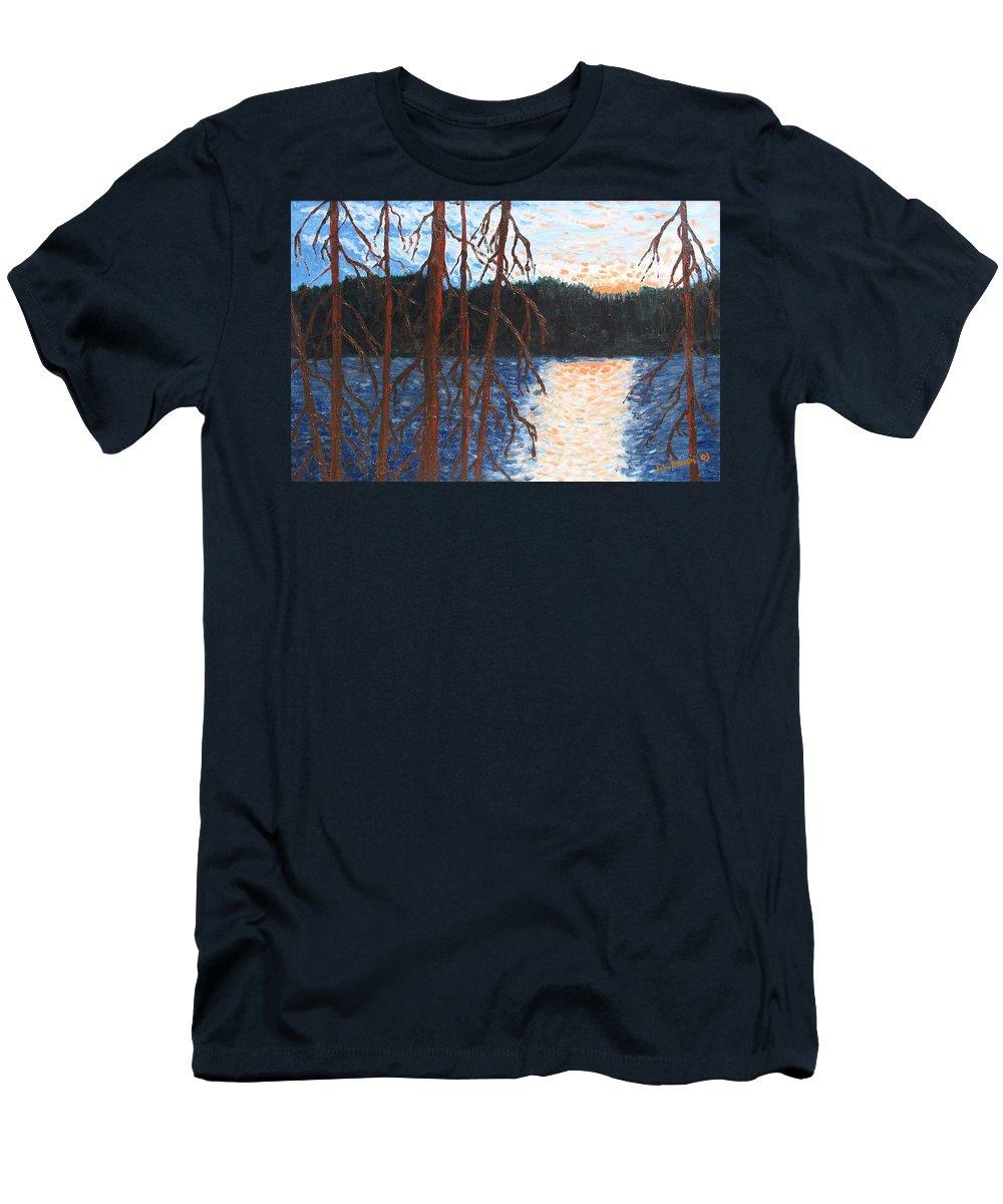 Setting Sun T-Shirt featuring the painting Georgian Bay Ghosts by Ian MacDonald