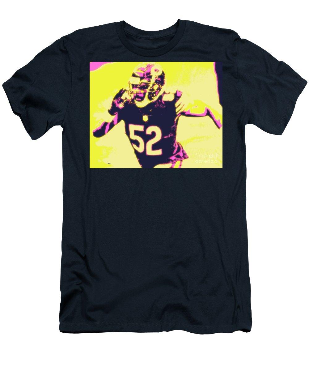 Khalil T-Shirt featuring the painting Khalil Mack by Jack Bunds