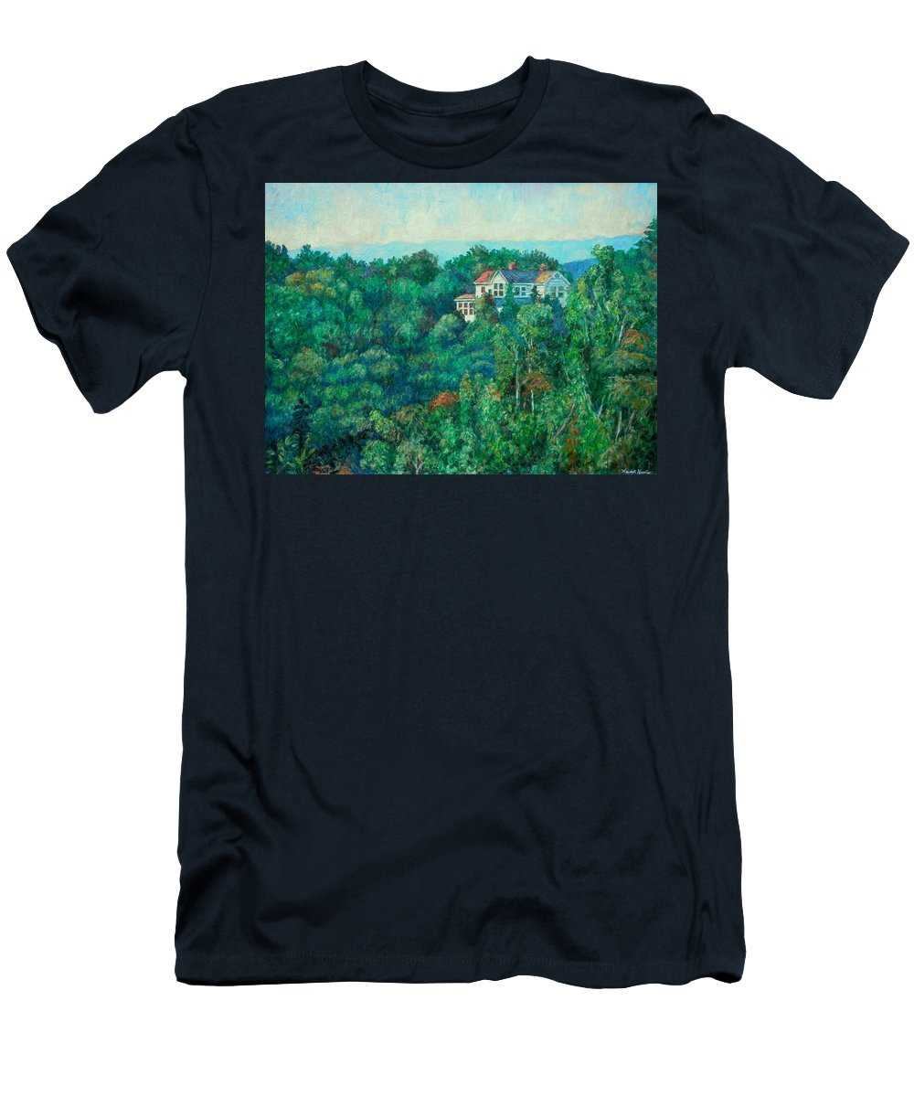 Landscape T-Shirt featuring the painting Near Memorial Bridge by Kendall Kessler