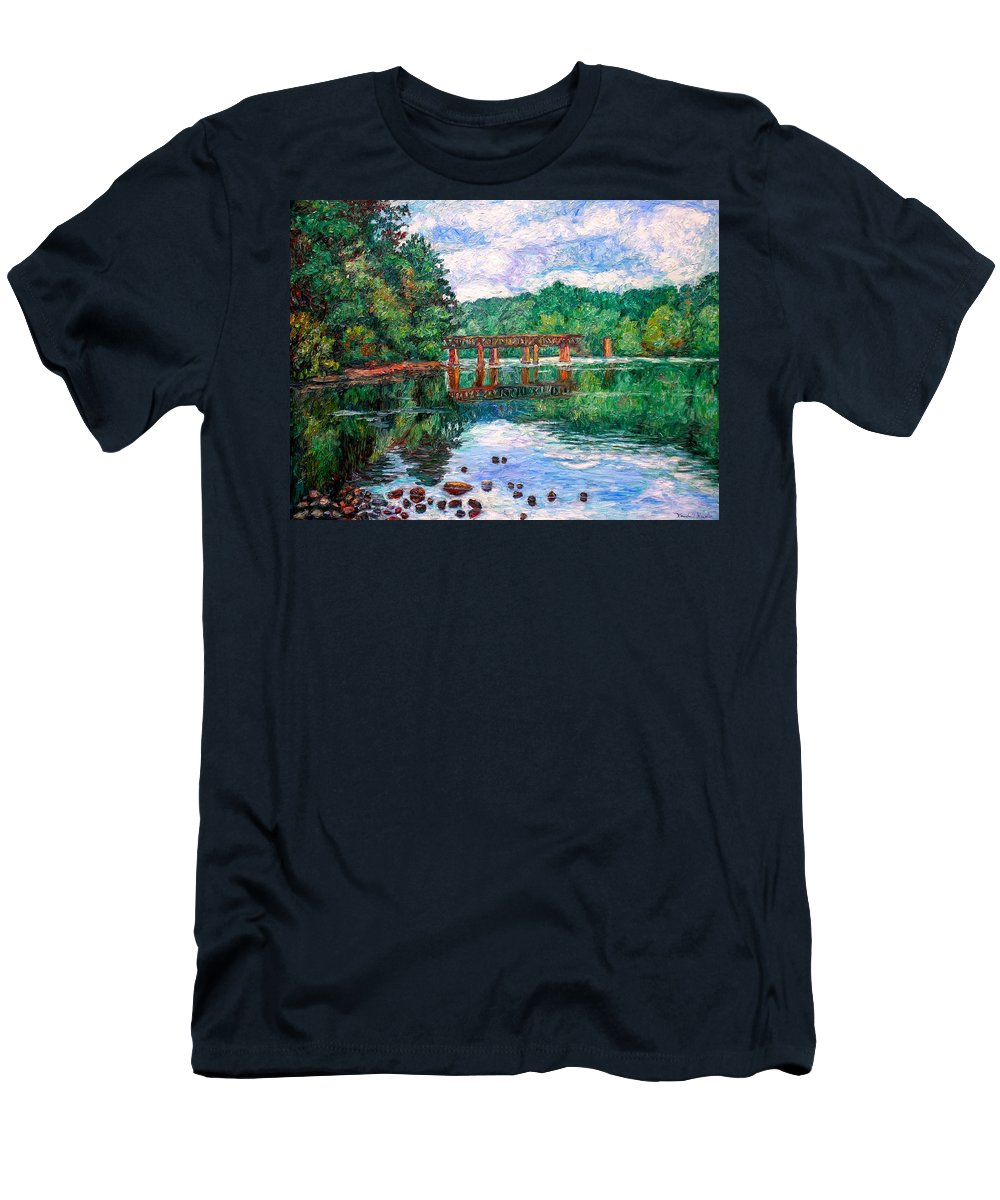 Landscape T-Shirt featuring the painting New River Trestle by Kendall Kessler
