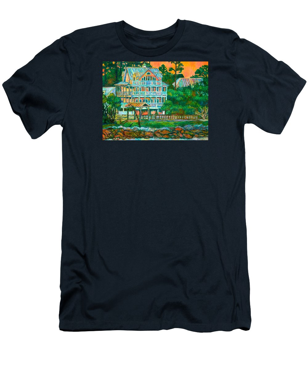 Landscape T-Shirt featuring the painting Pawleys Island Evening by Kendall Kessler