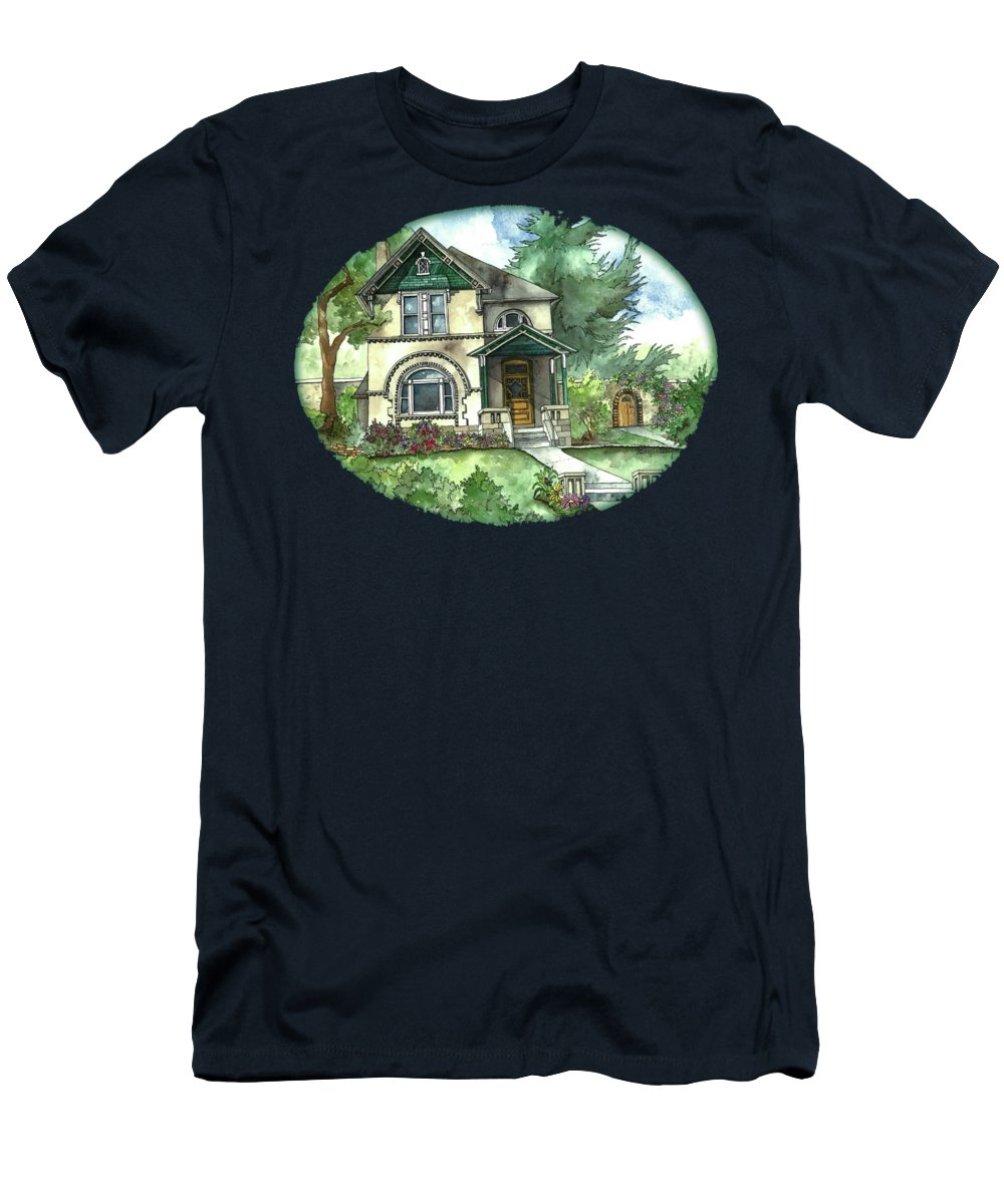 Vintage House T-Shirt featuring the painting Secret Garden by Shelley Wallace Ylst