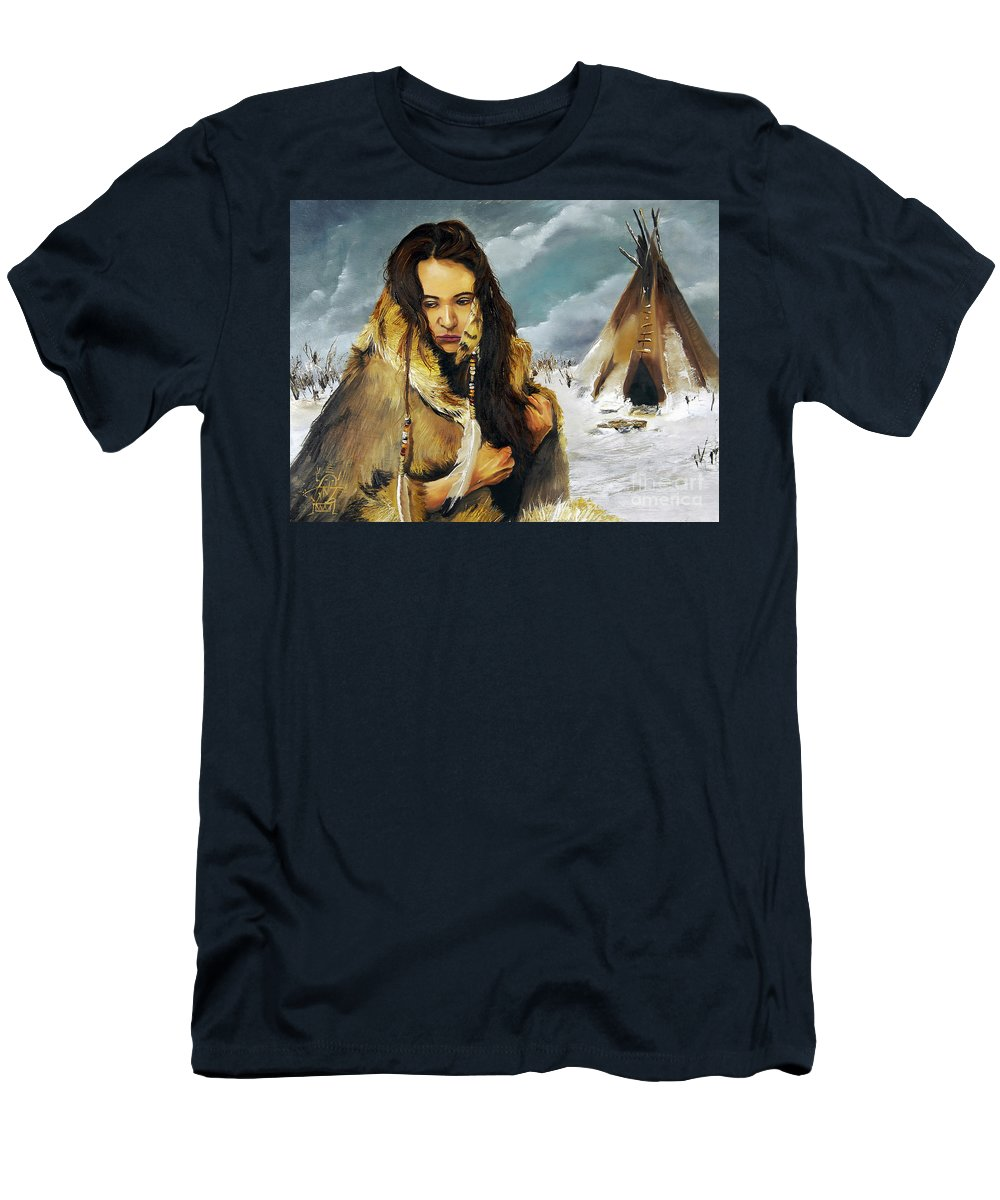 Southwest Art T-Shirt featuring the painting Solitude by J W Baker