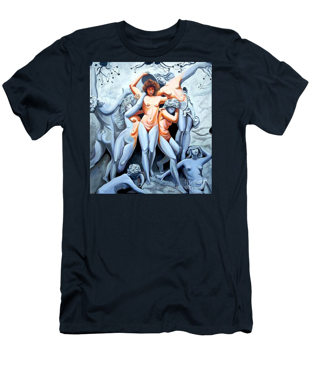 Statue Women T-Shirt featuring the painting Statue 3 by Jose Manuel Abraham
