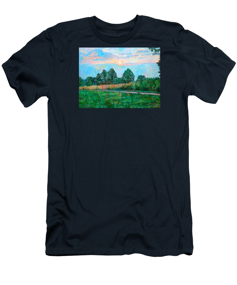 Kendall Kessler T-Shirt featuring the painting Sunset Near Fancy Gap by Kendall Kessler