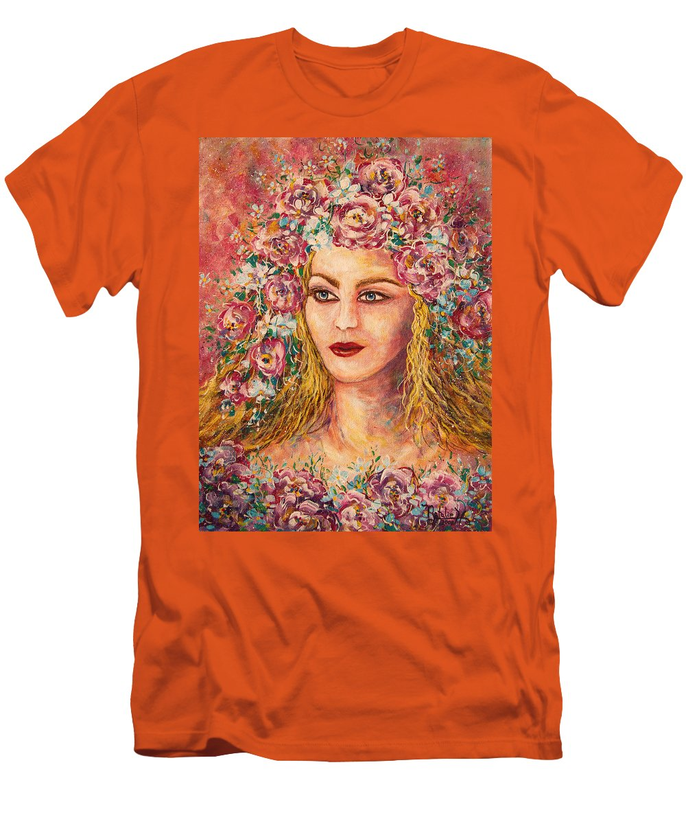 Goddess Men's T-Shirt (Athletic Fit) featuring the painting Good Fortune Goddess by Natalie Holland