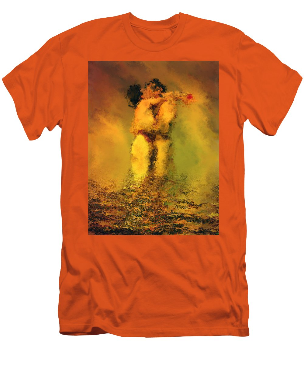 Nudes Men's T-Shirt (Athletic Fit) featuring the photograph Lovers by Kurt Van Wagner