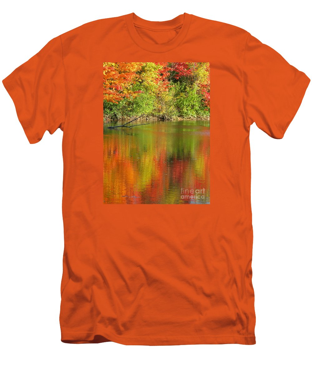 Autumn Men's T-Shirt (Athletic Fit) featuring the photograph Autumn Iridescence by Ann Horn