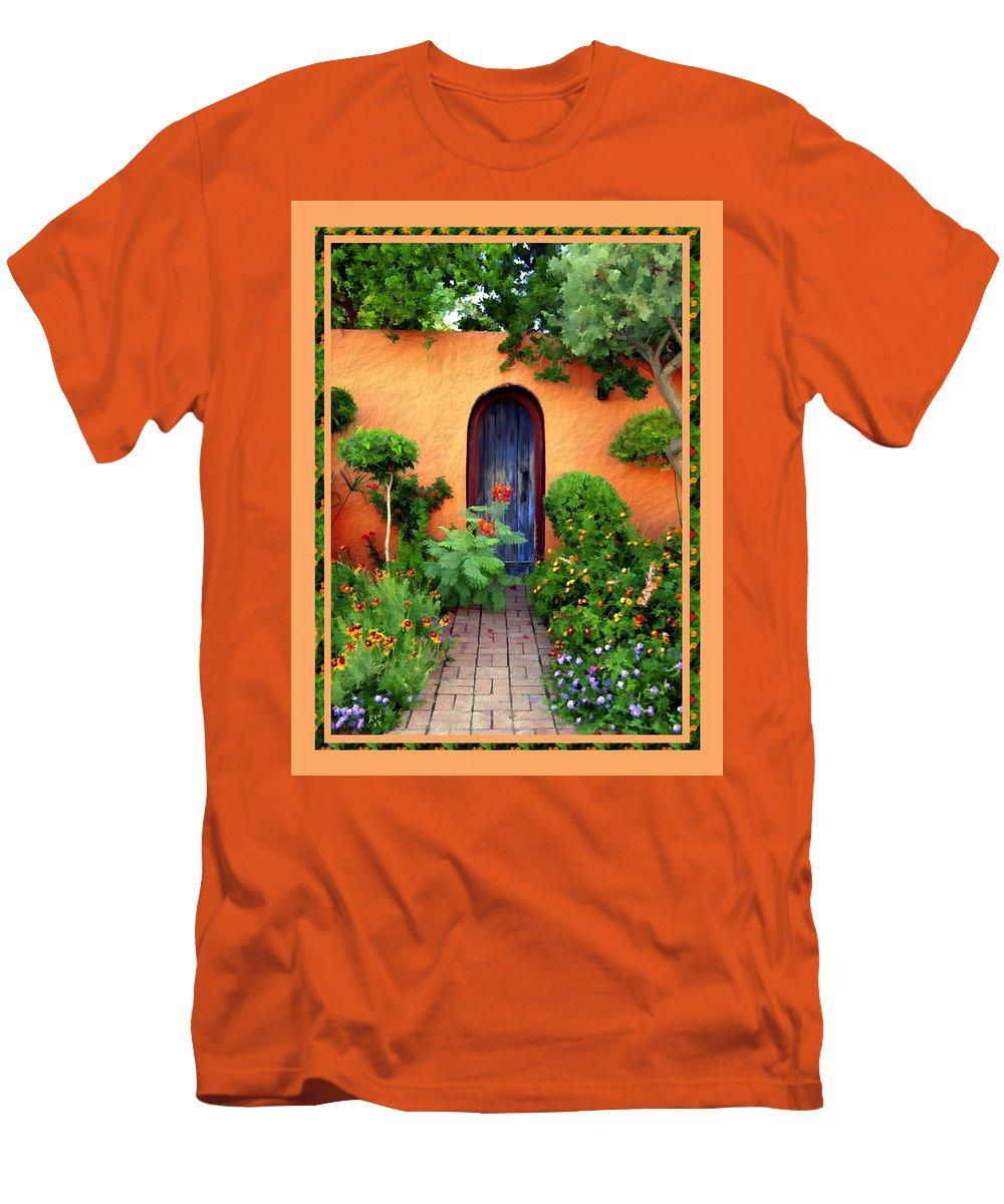 Garden Men's T-Shirt (Athletic Fit) featuring the photograph Garden Delights Mesilla by Kurt Van Wagner